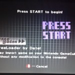 The GameCube disc boot screen for Freeloader.